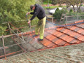Detail of one of our roof pressure washing projects in Melbourne
