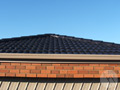 Low-angle shot of a fully restored roof in Melbourne